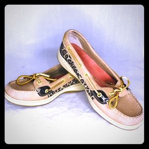 Sperrys Anglefish leopard boat shoes